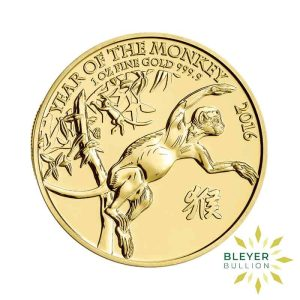 Bleyers Coin Cutouts 1oz Gold UK Lunar Collection Monkey Front