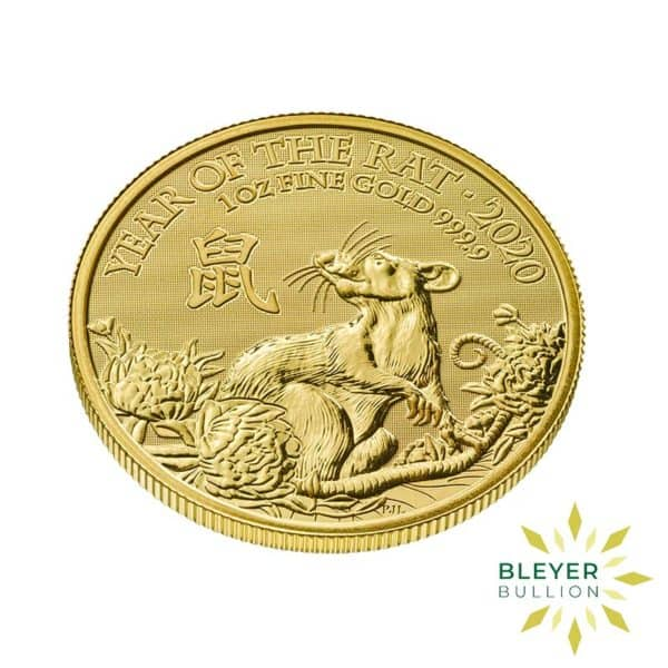 Bleyers Coin Cutouts 1oz Gold UK Lunar Collection Rat Side