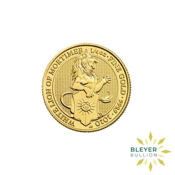 Bleyers Coins 1 4oz Gold UK Queens Beasts Lion 2020 1