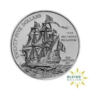 Bleyers Coin Best Value 1oz Palladium Bermuda Sea Venture Coin 1987 1