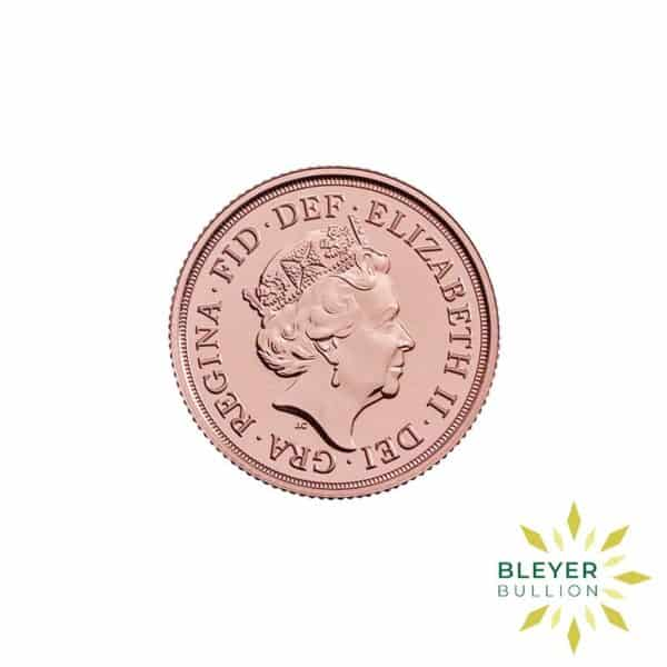 Bleyers Coin Cutouts Gold UK Sovereign Coins 2020 Sovereign Back