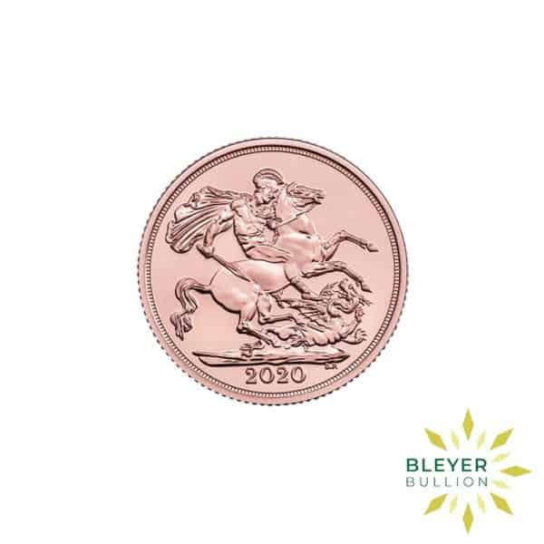 Bleyers Coin Cutouts Gold UK Sovereign Coins 2020 Sovereign Front
