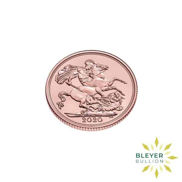 Bleyers Coin Cutouts Gold UK Sovereign Coins 2020 Sovereign Side