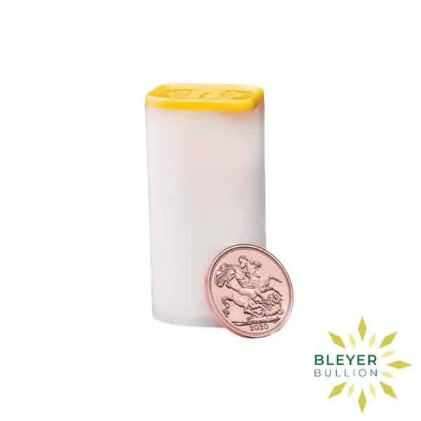 Bleyers Coin Cutouts Gold UK Sovereign Coins 2020 Sovereign Tube