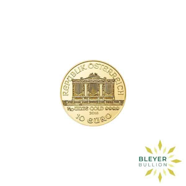 Bleyers Coins 1 10oz Gold Austrian Philharmoniker Coin 2018 2