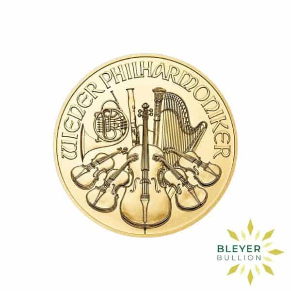 Bleyers Coins 1 2oz Gold Austrian Philharmoniker Coin 2018 1