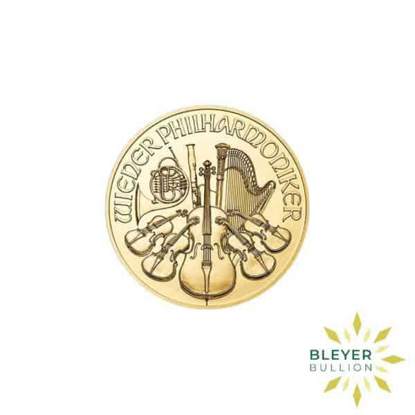 Bleyers Coins 1 4oz Gold Austrian Philharmoniker Coin 2018 1