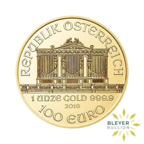 Bleyers Coins 1oz Gold Austrian Philharmoniker Coin 2019 2