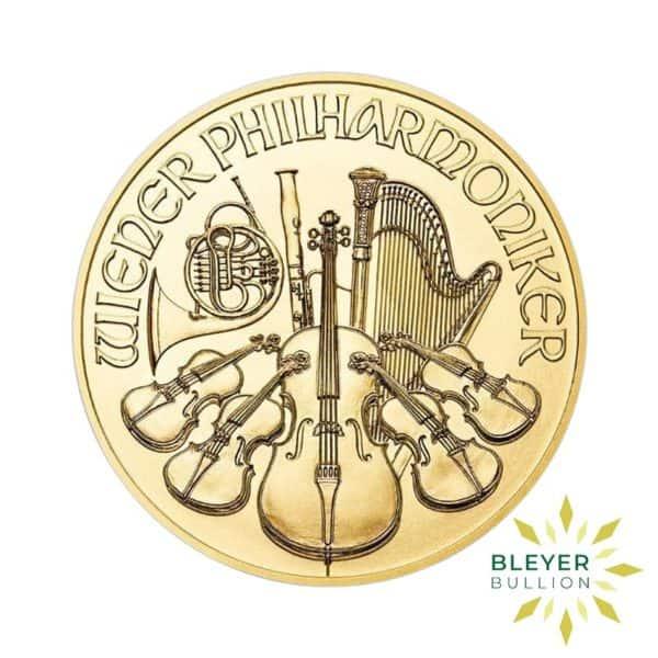 Bleyers Coins 1oz Gold Austrian Philharmoniker Coin 2020 1