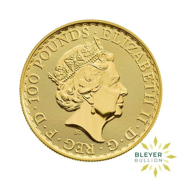 Bleyers Coin Cutouts 2020 Gold UK Oriental Britannia Coins 1oz Back