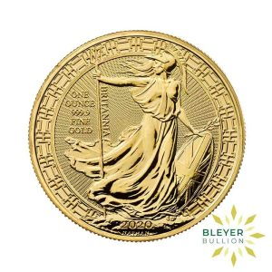 Bleyers Coin Cutouts 2020 Gold UK Oriental Britannia Coins 1oz Front