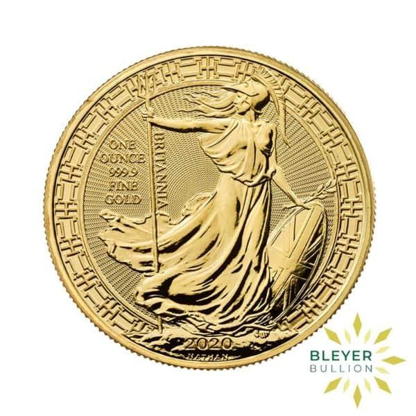 Bleyers Coin Cutouts 2020 Gold UK Oriental Britannia Coins 1oz Front