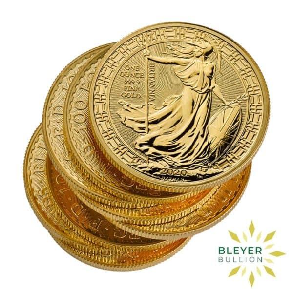 Bleyers Coin Cutouts 2020 Gold UK Oriental Britannia Coins 1oz Pile