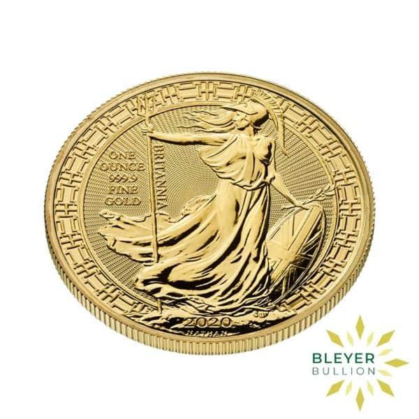 Bleyers Coin Cutouts 2020 Gold UK Oriental Britannia Coins 1oz Side