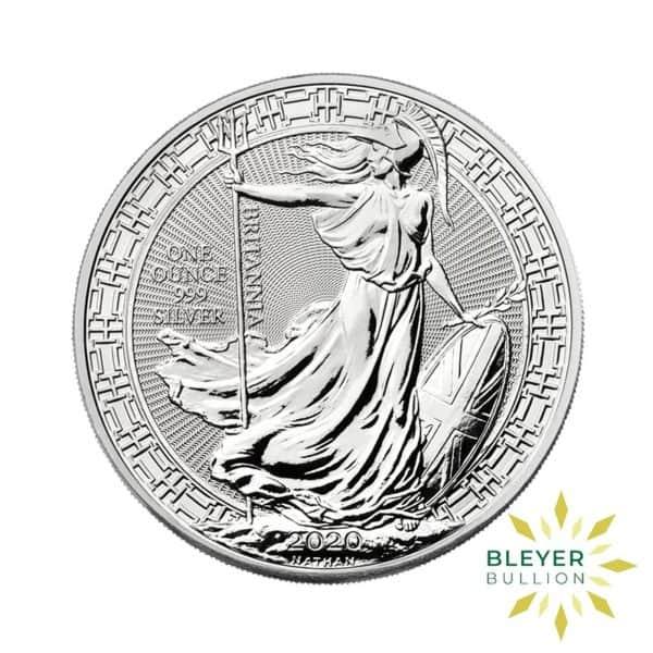 Bleyers Coin Cutouts 2020 Silver UK Britannia Coins 1oz Front
