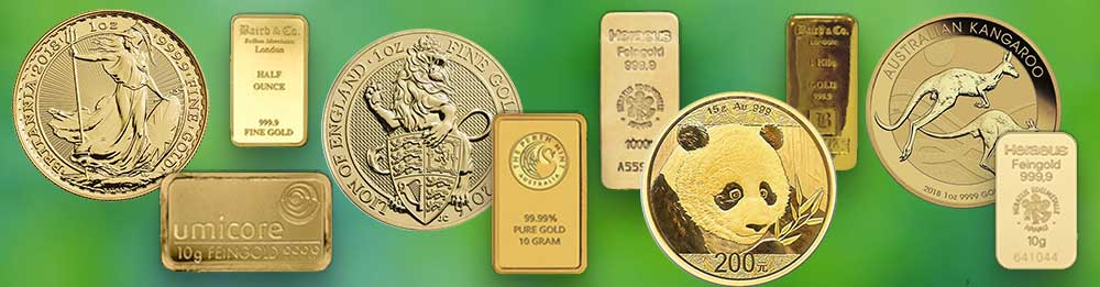 Gold Investment Bullion Bars and Coins available from Bleyer's website