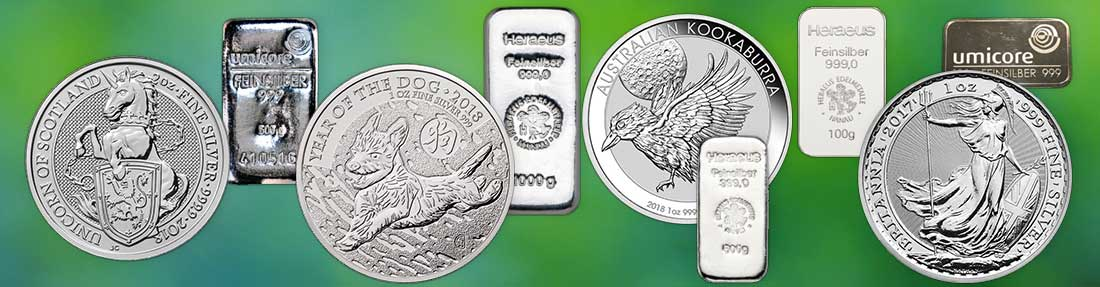 Silver Investment Bullion Bars and Coins available from Bleyer's website
