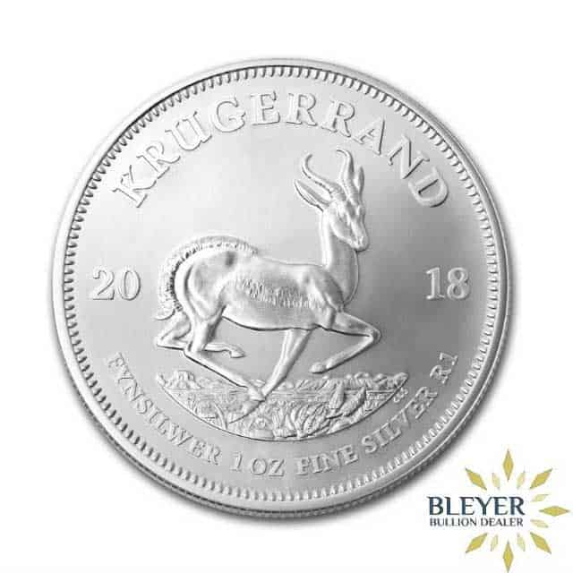 1oz Silver South African Krugerrand Coin, 2018