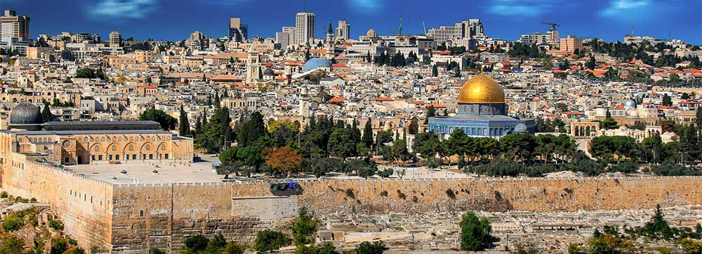 The city of Jerusalem Dome of the rock