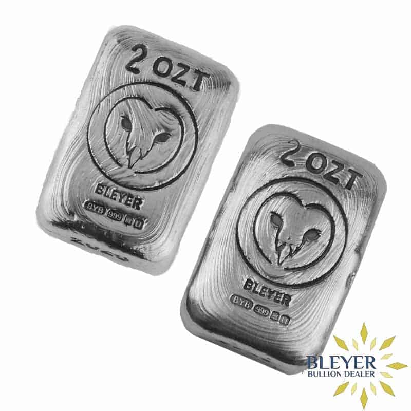2oz Silver Bleyer Hand Poured Owl Bar (Mixed Year) Set, 2020