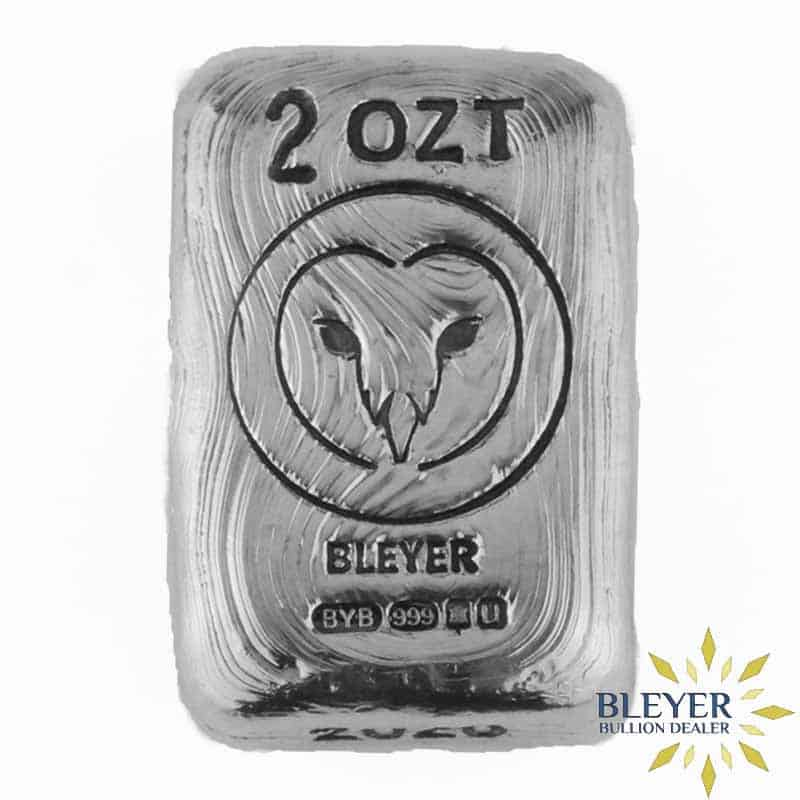 2oz Silver Bleyer Hand Poured Rectangle Owl Bar, 2020