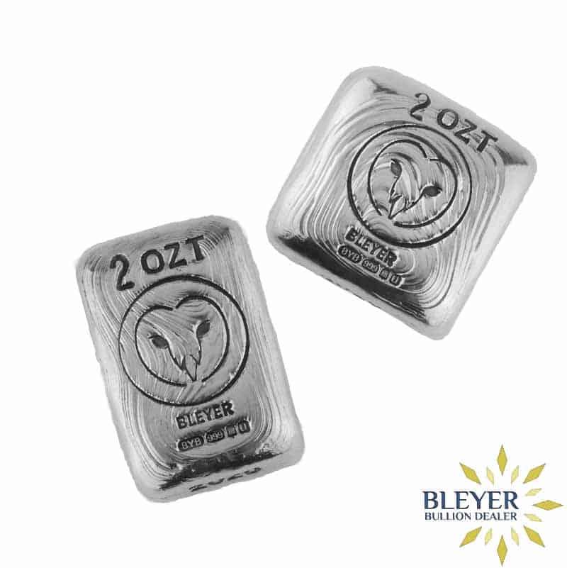 2oz Silver Bleyer Hand Poured Owl Bar Combo Set, 2020