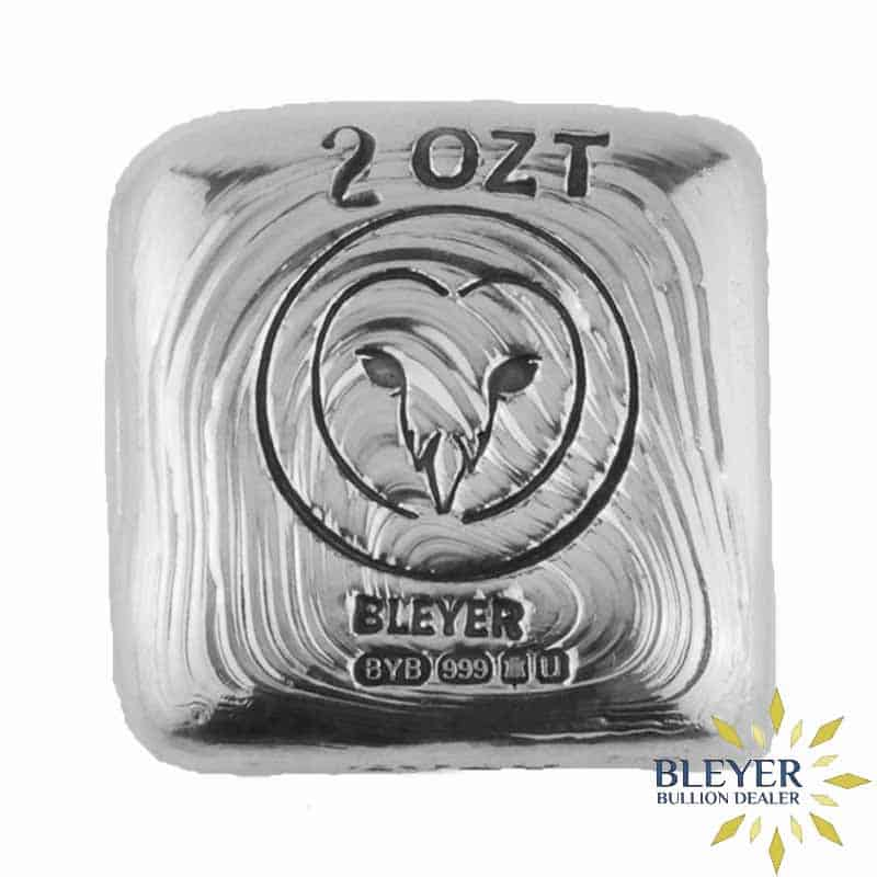 2oz Silver Bleyer Hand Poured Square Owl Bar, 2020