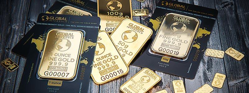 Selection of Global gold bullion bars