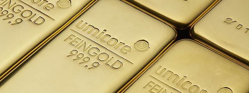 500g gold Umicore bars