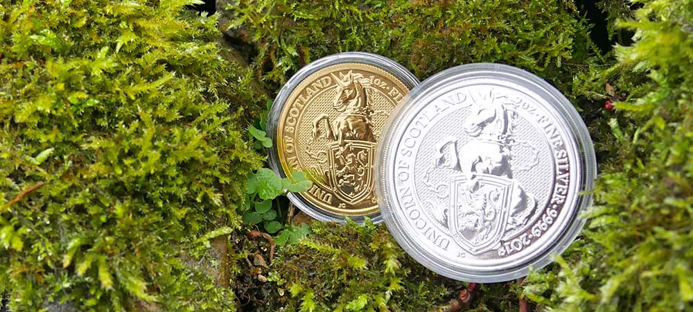 1oz Gold and 2oz Silver UK Queen's Beasts Unicorn, 2018