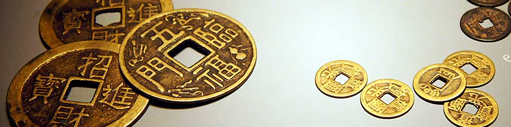 Ancient Gold Chinese Coins of various sizes