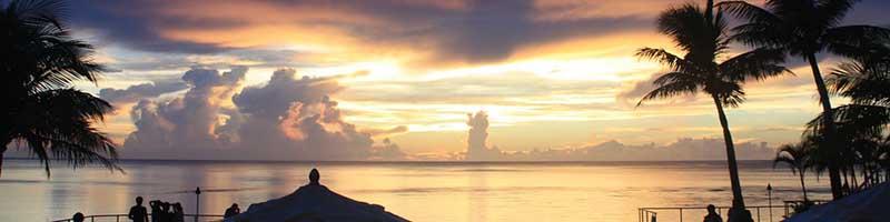 Guam beach view of the sunset