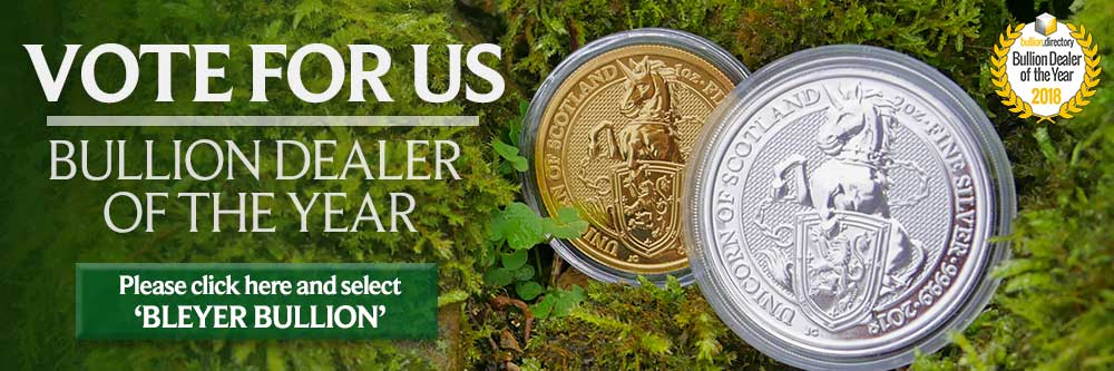 Please Vote for Bleyer Bullion in Bullion Directory's Bullion Dealer of the Year 2018 Awards