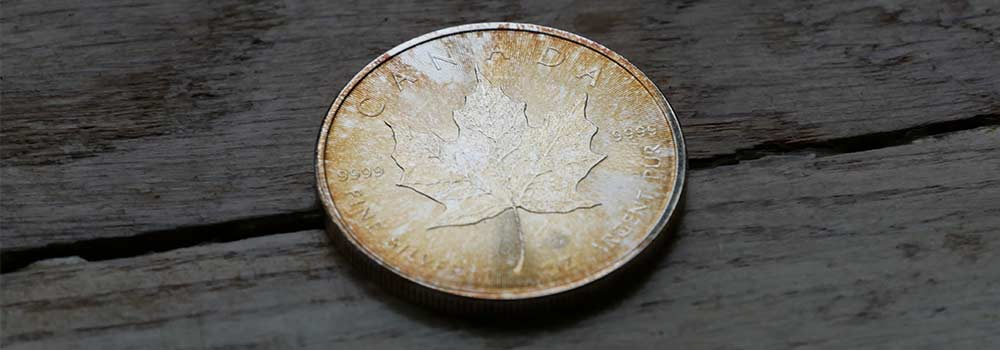This is what happens to Silver Bullion when it is left without a case