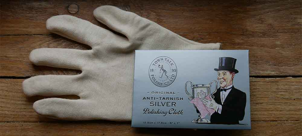 Silver Cotton Glove & Silver Polishing Cloth now available from Bleyer