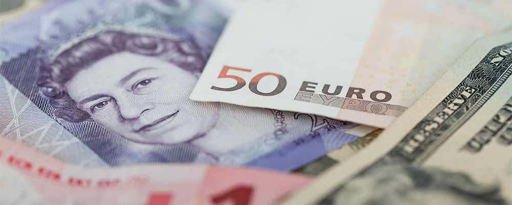Bank notes of the West - Pounds, Dollars and Euros