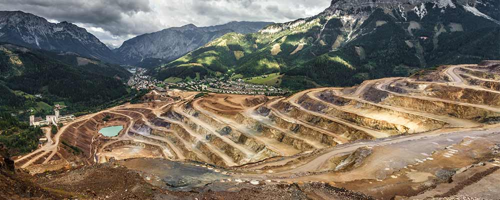 Gold Mining overlooking nature landscape