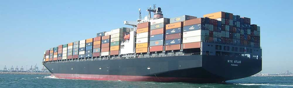 Cargo Ship with shipping containers