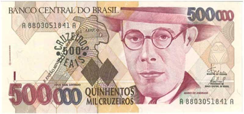 Brazil – 500 cruzeiros reais, 1993