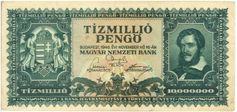 Hungary – 10 million pengo, 1945