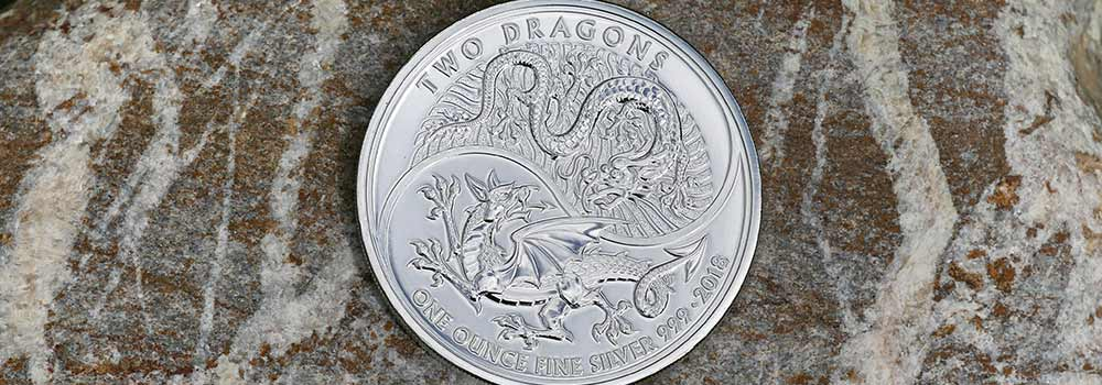 limited edition one ounce silver Two Dragons Coins are produced by The Royal Mint