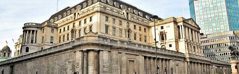 The external building of The Bank of England in London