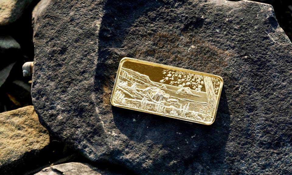 Gold Plated Silver Bullion Bar