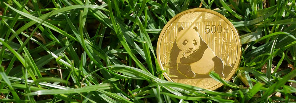 People's Bank of China's 1oz Gold Chinese Panda Coin available from Bleyer Bullion
