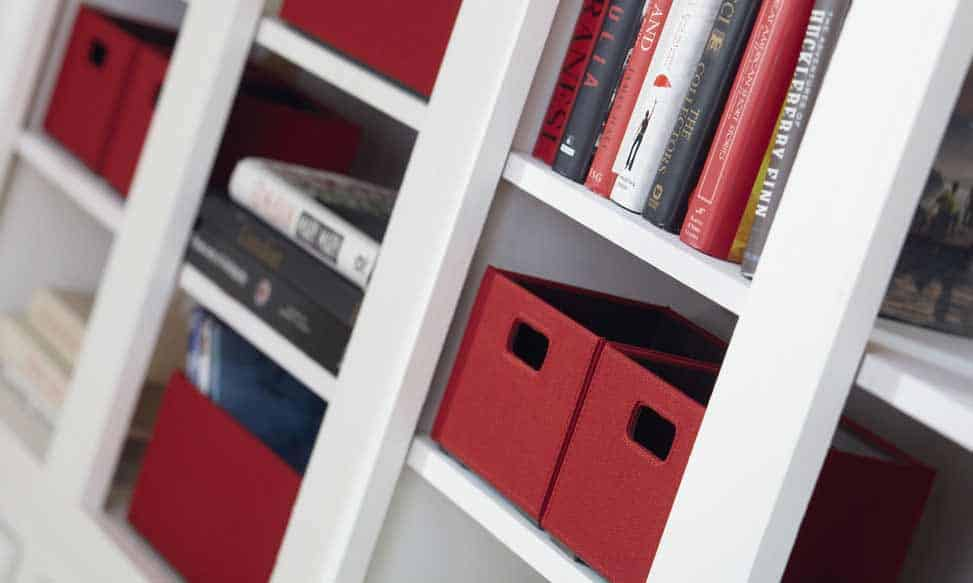Red Home Bookshelf and storage