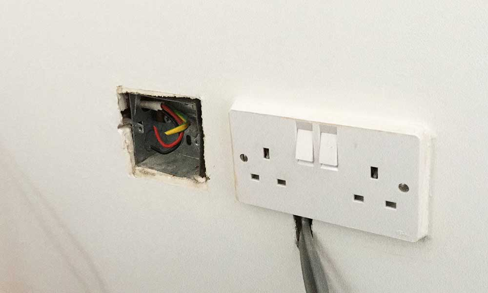 Keep your bullion secret and store it behind a disused electrical plug socket