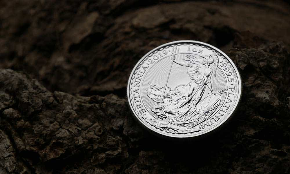 A 1oz platinum Britannia coins now available from Bleyer's website
