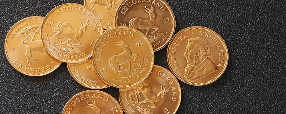 Assorted Krugerrand coins available at Bleyer