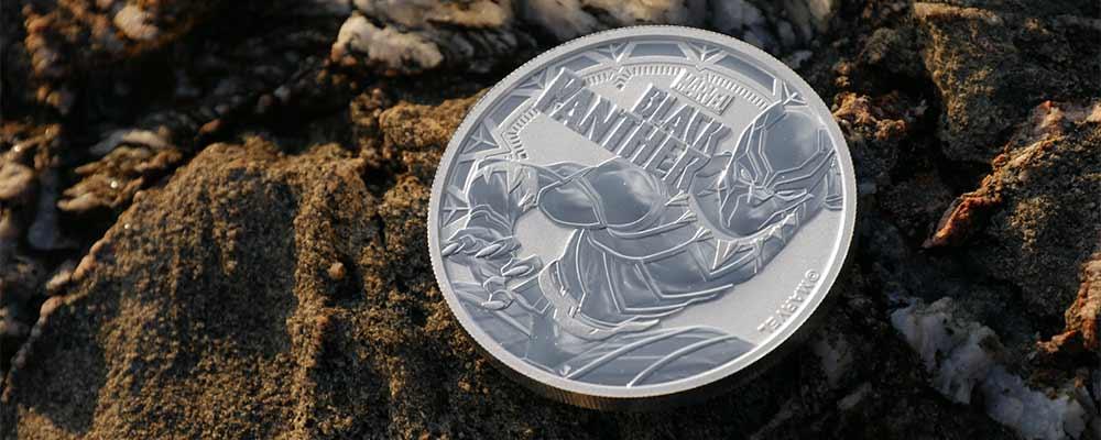 1oz Silver Tuvalu Marvel Black Panther Coin, 2018