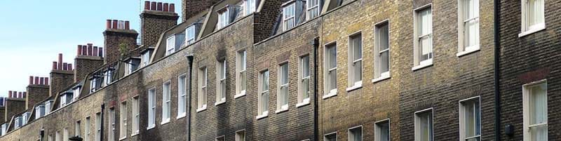 A row of old terrace houses